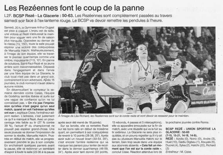 BCSP Rezé  - Ouest-France - 20190311
