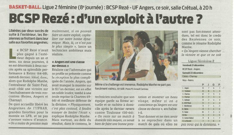 BCSP REZE - Presse-Océan - 21/12/2018