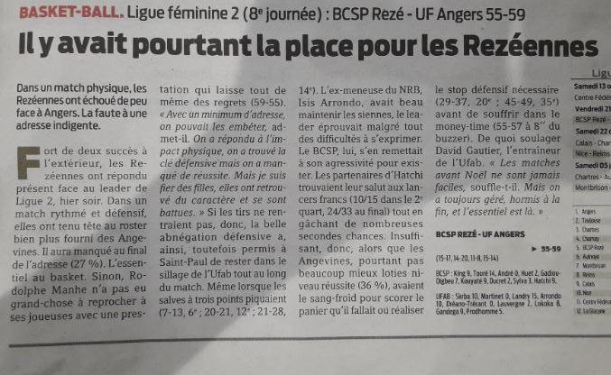 BCSP REZE - Presse-Océan - 22/12/2018