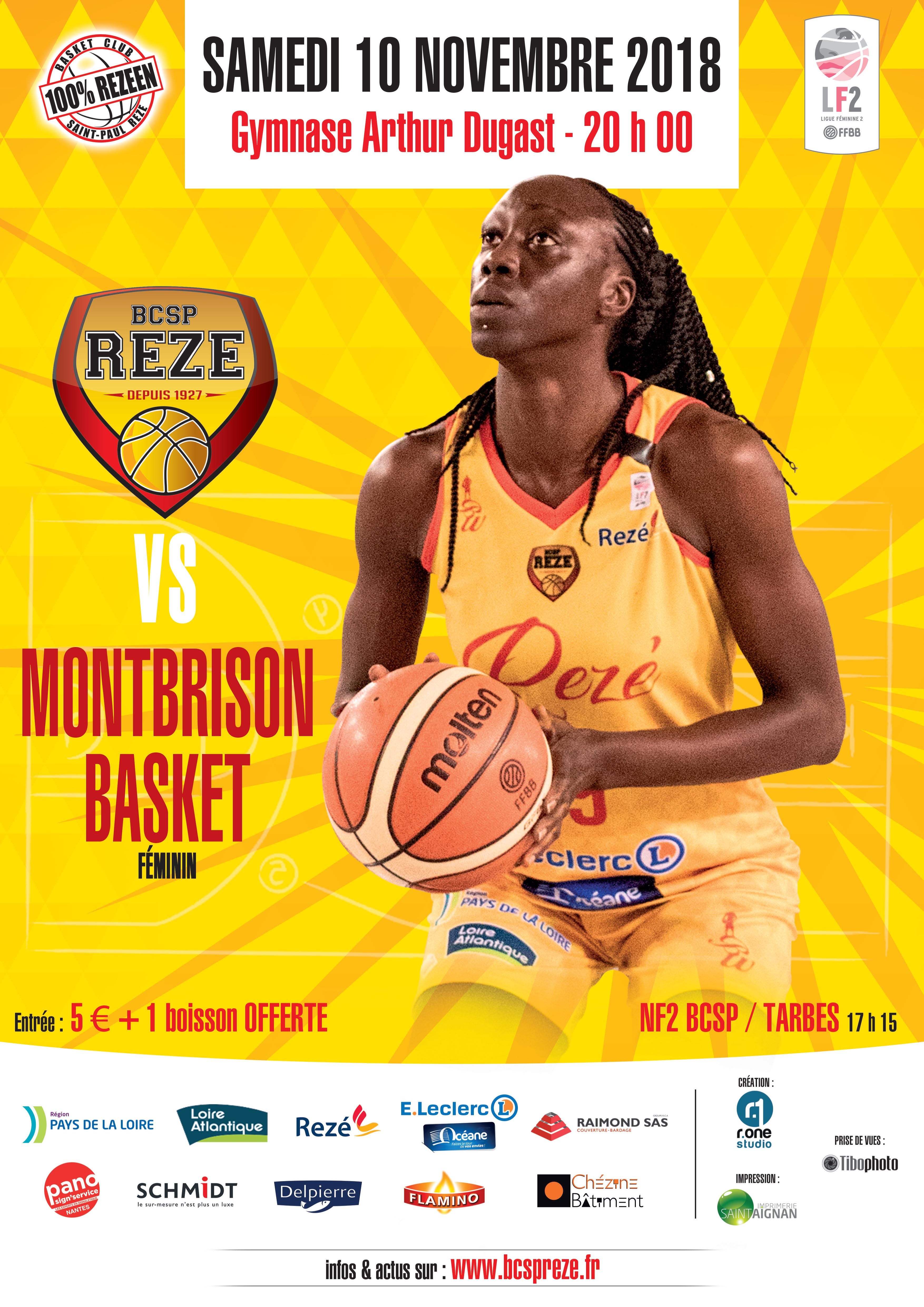 Affiche match BCSP-Montbrison 2018-10-30