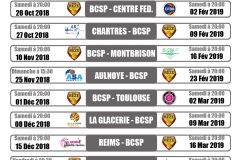calendrier matchs LF2 2018-2019