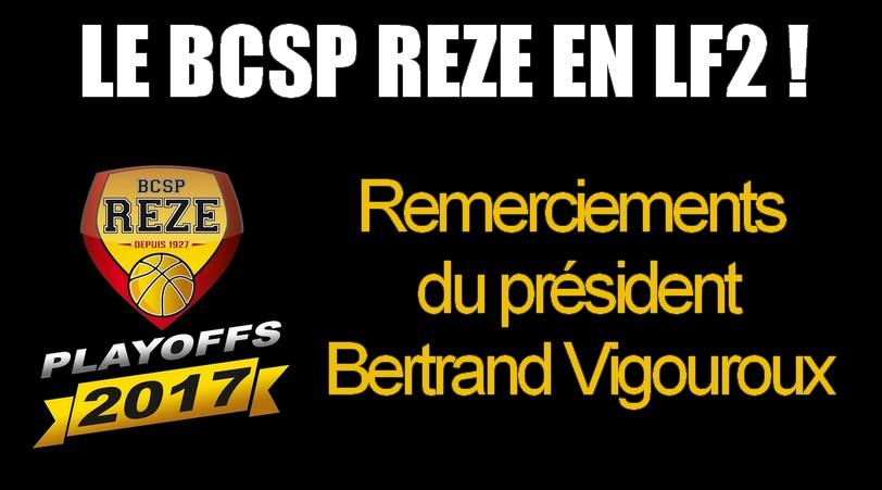 montée LF2 - remerciements BERTAND