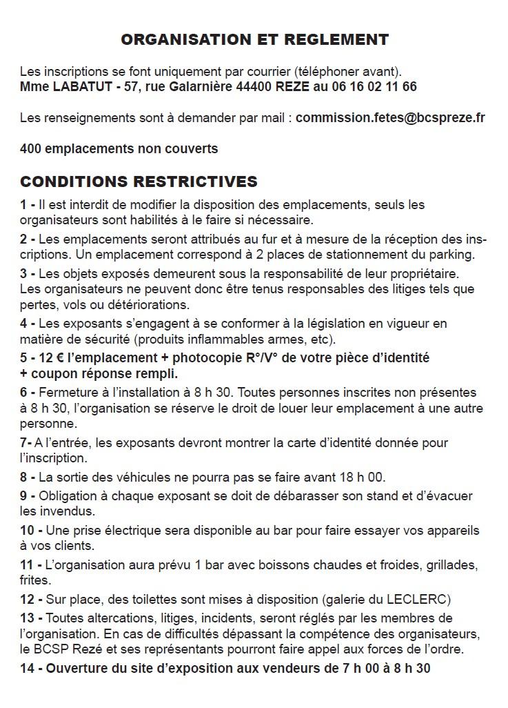 Vide grenier formulaire d 39 inscription site officiel for Vide grenier loiret 2017