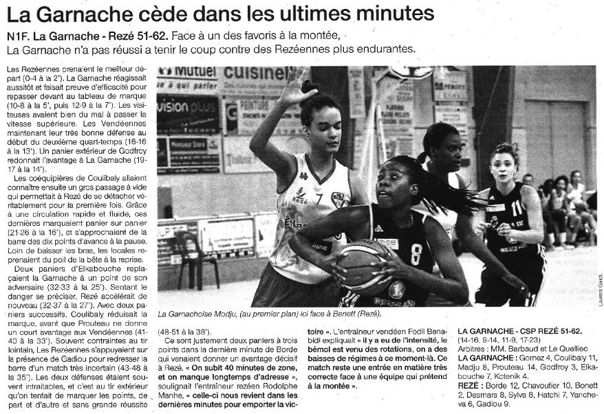 NF1 / Ouest-France / 25-09-2016