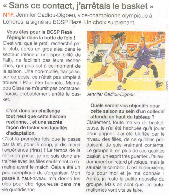NF1 / Ouest-France / 29-09-2016