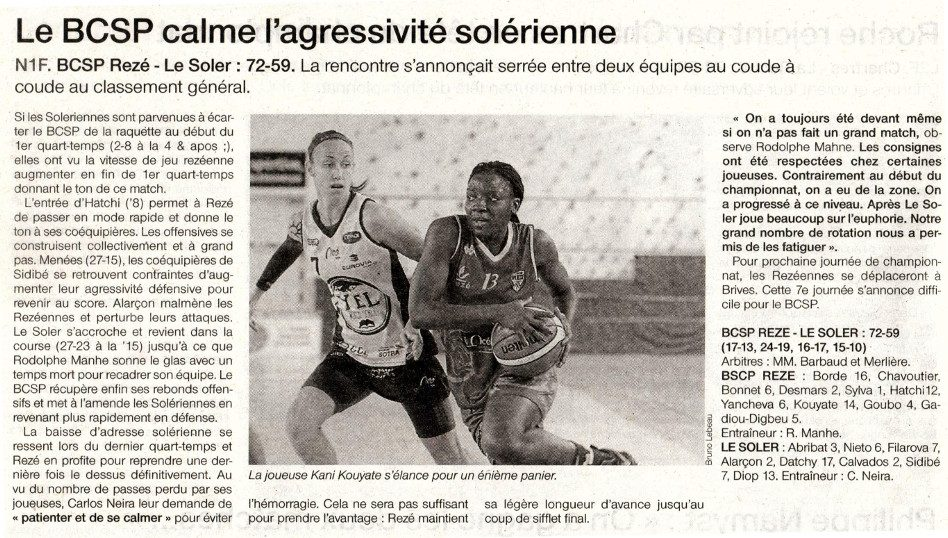 NF1 / Ouest-France /06-11-2016