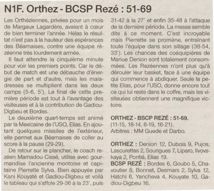 NF1 / Ouest-france / 11-12-2016