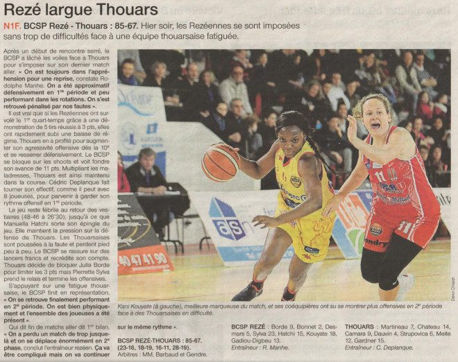 NF1 / Ouest-France / 15-01-2017