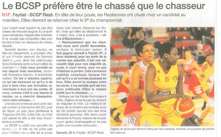 NF1 / Ouest-France / 10-02-2017