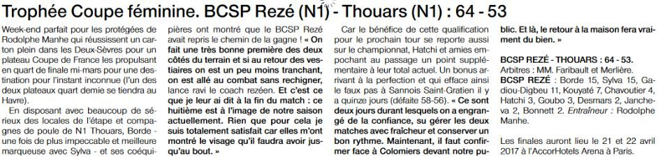 NF1 / Ouest-France /20-02-2017