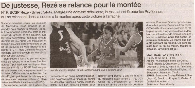 NF1 / Ouest-France /12-03-2017