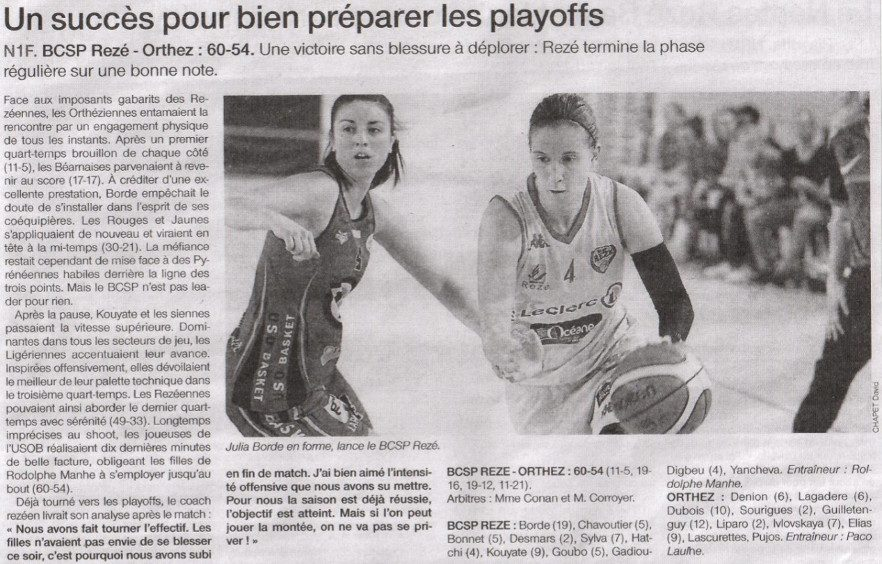 NF1 / Ouest-France / 09-04-2017