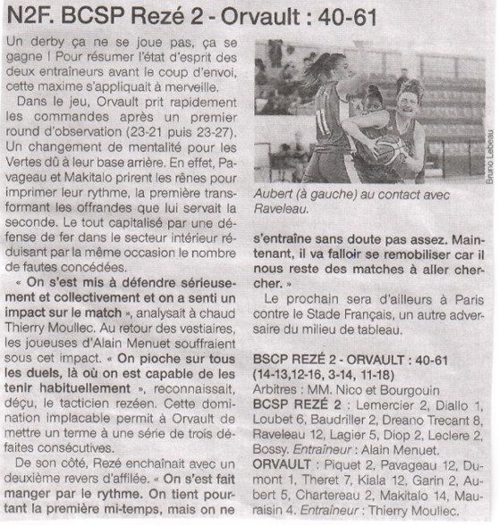 NF2 / Ouest-France / 05-02-2017