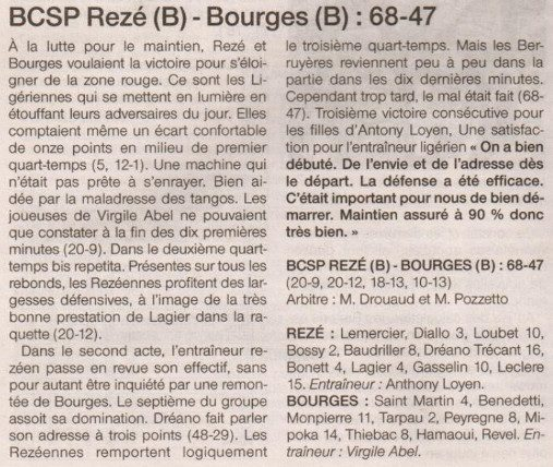 NF2 / Ouest-France /12-03-2017
