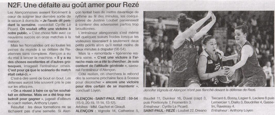 NF2 / Ouest-France / 02-04-2017