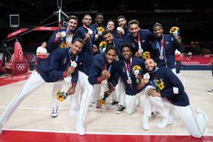 Médaille d'argent basketball JO tokyo 2020 France