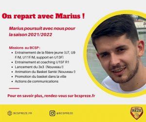 Présentation Marius Blanchard - BCSP Rezé