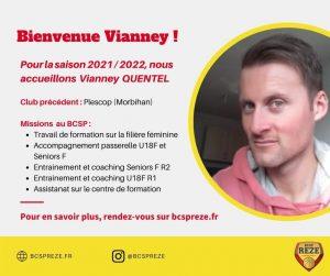 Présentation salarié BCSP Rezé Saison 2021/2022 Vianney Quentel