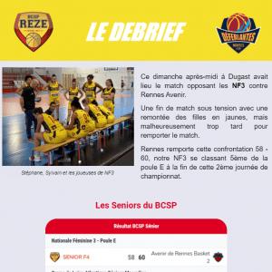 Extrait newsletter BCSP Rezé le Débrief