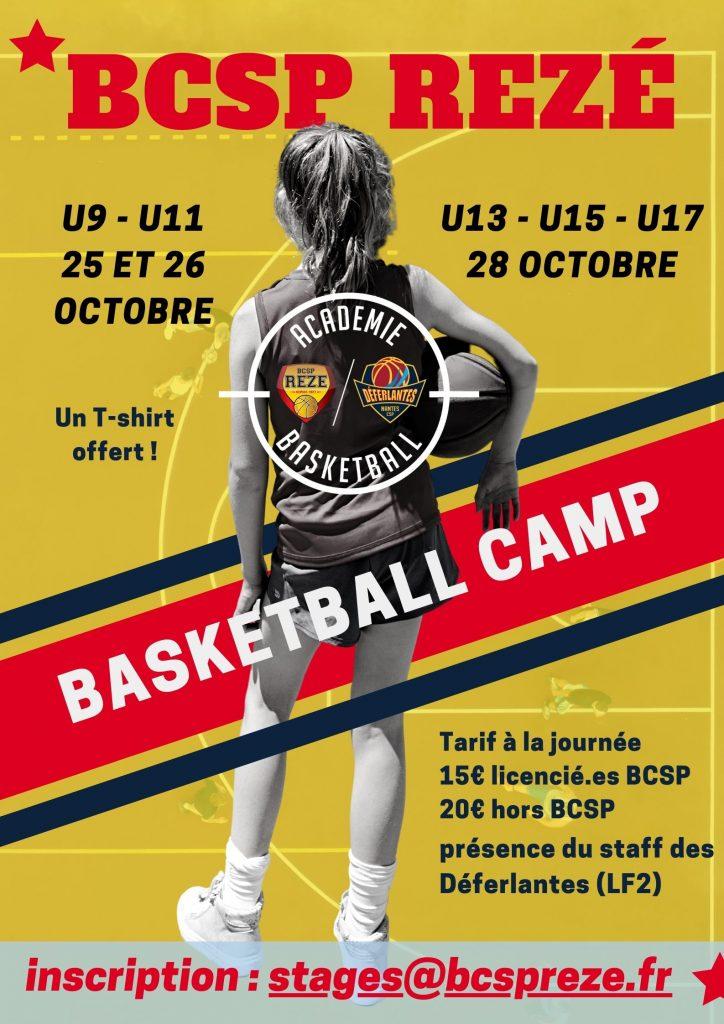 Stage de basket BCSP Déferlante - toussaint 2021